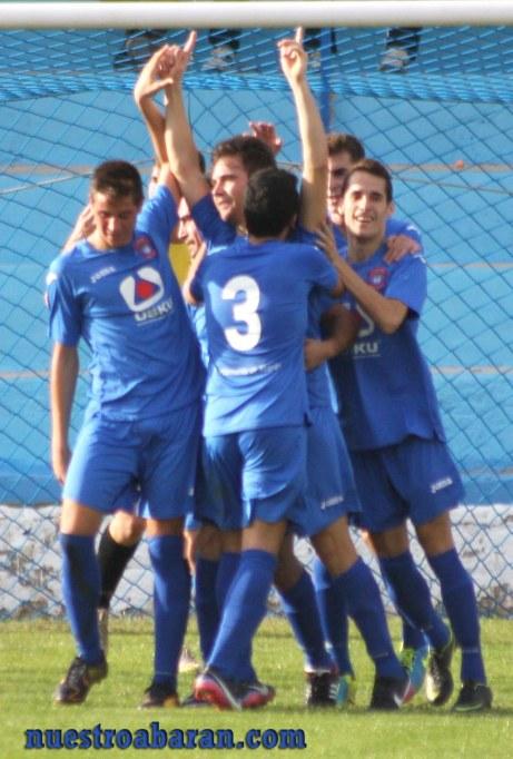 Celebración del gol.
